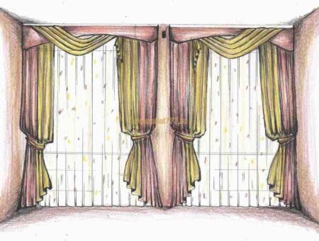 Модные эскизы штор